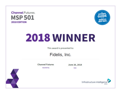 Fidelis Ranked Among Top 501 Global Managed Service Providers by Channel Futures